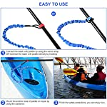 """FIRINER 2 Pack Stretchable Paddle Leash with D-Shape Carabiner, 3.6ft Kayak Paddle Tether Set Coiled Strap Bungee Leash… 12 【Easy to Use】This paddle leash is easy to use and attach. All you have to do is to tie its one end to the paddle or fishing rod and attach the other end to your life jacket or your boat with the carabiner 【Stretchable Design】The kayak leash paddle can be extended from 44.8 inch to 59 inch, which is long enough for most usage. 14"""" of elongation keeps you reach what you need when paddling or reeling to a large extent 【Durable】This kayak paddle leash is made of 6mm super strong elastic rubber to make sure its service time, the fixed elongation won't over stretch and loose elasticity. And nylon outer greatly increase its anti-corrosion performace and longer service life"""