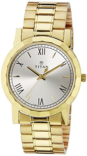 Titan Analog Silver Dial Men's Watch -NK1644YM01