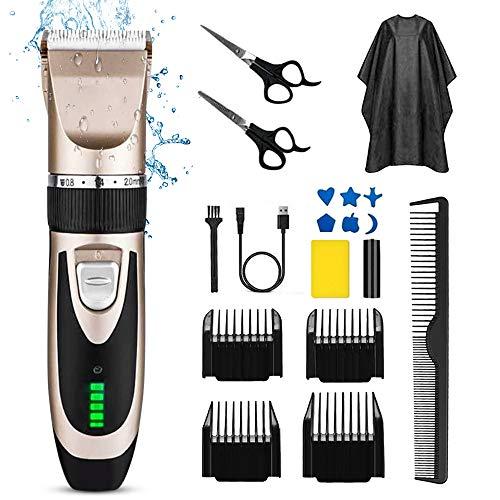 Hair Clippers Shortcut Self-Haircut Kit Hair Clippers Bald Head Clipper Hair Clippers Rechargeable Hair Cutter Shaving Machine with 9 Combs