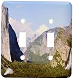 3dRose lsp_36441_2 El Capitan and Bridal Veil Falls in Yosemite National Park Double Toggle Switch