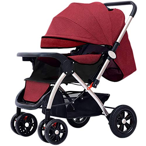 Best Price! Mom Luxury Baby Stroller High Landscape Light Folding Four Wheels Baby Pram Can Sit Can ...