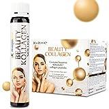 Pharmavital Beauty Collagen Drink (30 Trinkampullen), Anti Aging zum Trinken, mit 5555mg Premium Kollagen, Hyaluronsäure, Vitamin C, Heidelbeersaftkonzentrat sowie Vitaminen und Mineralien