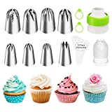 Ouddy Cake Decorating Icing Piping Tips Set, Extra Large Decorating Tips for Cupcake Cookies, 8...