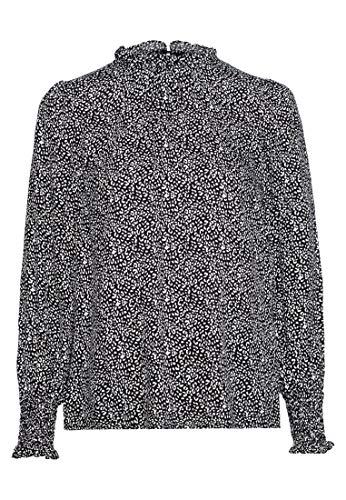 HALLHUBER Bluse mit Mini-Leo-Print gerade geschnitten Offwhite, 42