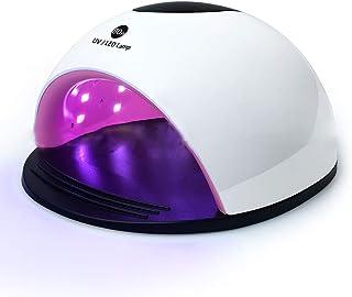 Secadores de UñAs Tienda de uñas Secador rápido Lámpara para hornear de uñas Profesión Lámpara de fototerapia de inducción Sincronización Modo sin dolor Lámpara de uñas 110 / 240v,White
