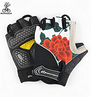 WULIHONG-GantSummer Cycling Gloves Half Finger Gel Gym Riding Sport Gloves MTB Mountain Road Bicycle Bike Guantes Hombres Mujeres Guantes Ciclismo XL NO 9