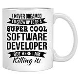 Super coole Softwareentwickler-Kaffeetasse-lustige Anerkennungs-Geschenk-neue Job-Tasse