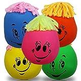 10 x Knautschgesicht 5cm, mit Wollhaaren, Stressball, Knautschball