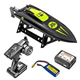 ALTAIR Brushless RC Boat | AA Tide Remote Control High Speed Boat 40+ KM/h | Auto Self-Righting Capability | 1500 mAh Rechargeable Battery Included | Fun RC Boat for All Ages (Lincoln, NE Company)