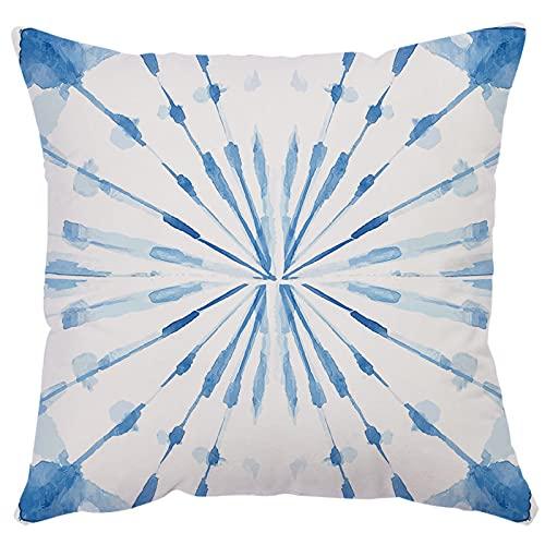 MissW Funda De Almohada Decorativa Irregular Naranja Azul Sin Núcleo De Almohada Cremallera Y Funda De Almohada Lavable Adecuada para Sofá Oficina Centro Comercial