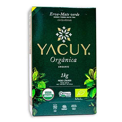 Circle of Drink - Yacuy Certified Organic Green Yerba Mate Tea - Gourmet Erva Mate Chimarrao - Super Fresh Vacuum Sealed - 1kg - 2.2 lbs (1 PACK)