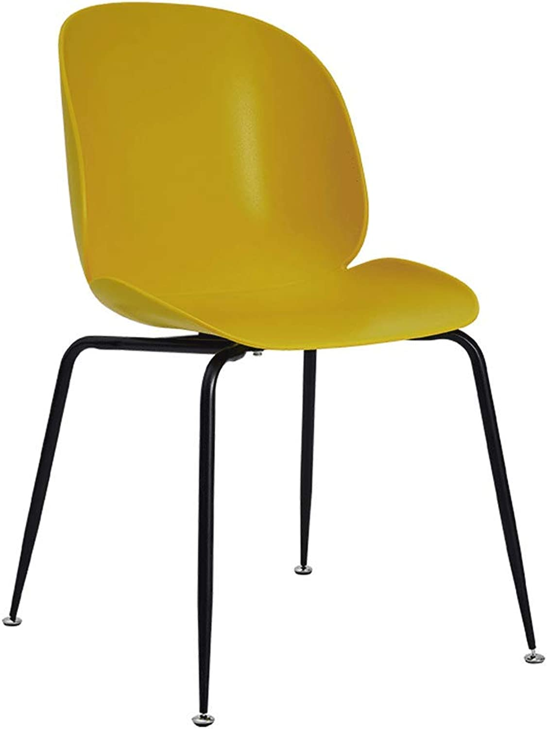 SLH Modern Minimalist Dining Chair Nordic Living Room Stool Home Backrest Chair (color   Yellow)