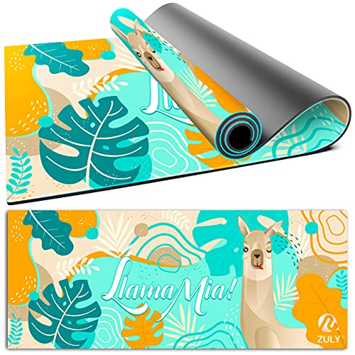 Product Image of the ZULY Eco Friendly Kids Yoga Mat with Free Yoga Strap, Premium Microfibre Suede W...
