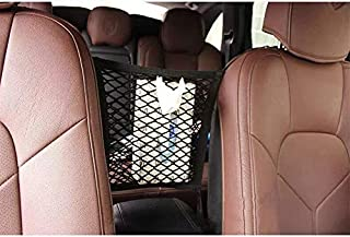 FXF998 Universal Car Seat Storage Mesh/Organizer - Mesh Cargo Net Hook Pouch Holder for Bag Luggage Pets Disturbing Stopper from Children and Pets as Car Backseat Barrier Net