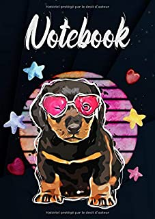 NoteBook: Vintage Softcover Puppy love Composition Book for students and teachers at school, college or home school - Line...