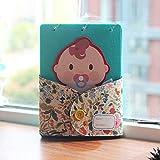 Álbum de fotos para bebé, libro de recuerdos para niños, registro de recuerdos y hitos bellamente recién nacidos, página de bricolaje moderno álbum de fotos