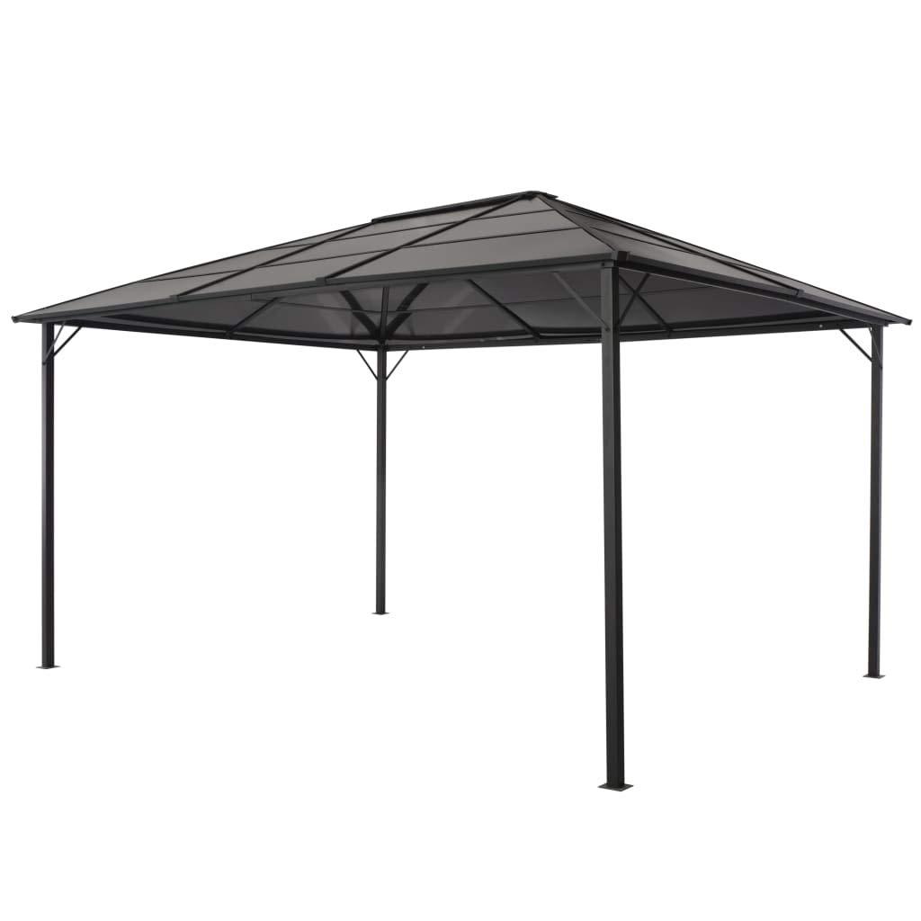 Tidyard Cenador con tejado Aluminio 4x3x2,6 m Negro: Amazon.es: Hogar