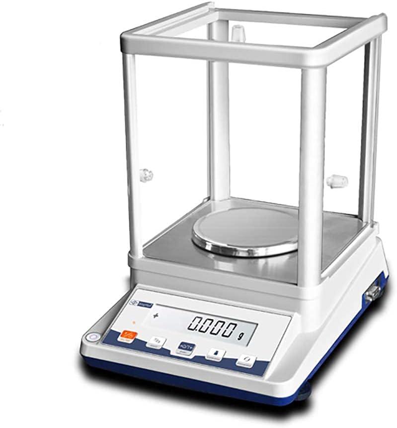 YLJJ Balanza analítica Digital de 0,1 MG, balanza electrónica de precisión, balanza de Laboratorio con Pantalla LCD retroiluminada para Laboratorio/joyería/Farmacia/Planta química (310 g / 0,001 g)