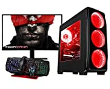 Megamania PC Gaming AMD Ryzen 7 2700X (8 Núcleos up to 4,3Ghz) | 16GB DDR4 | SSD 480GB + 1TB HDD Esclavo | Radeon RX570 8GB | WiFi + Monitor LED 24' + Kit Gaming