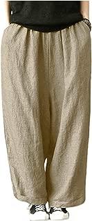 Surprise S Pant Hemp Bloomer Autunm M-5Xl 6XL Loose Cotton Linen Pleated Oversize Pockets Wide Leg Pant