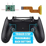 eXtremeRate Textured Black Dawn 2.0 FlashShot Trigger Stop Remap Kit for PS4 CUH-ZCT2 Controller, Upgrade Board & Redesigned Back Shell & Back Buttons & Trigger Lock for PS4 Controller JDM 040/050/055