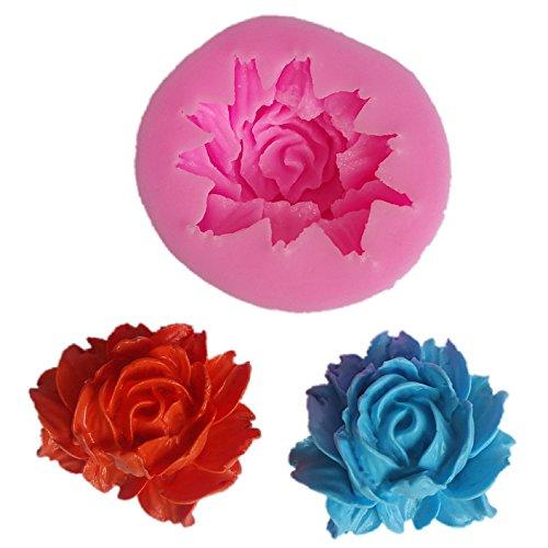 Demarkt 3D-vorm voor gebak, silicone, pioenrozen, bloemen, siliconen, bakjes, muffins en zeep, chocolade, ijsblokjes, vorm 3D-vorm, bakken en knutselen