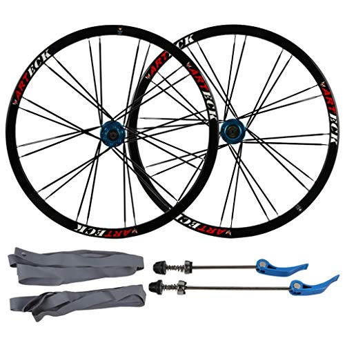 KZEE Mountain Bike Bicycle Disc Brake 26 Inch, Double Wall Aluminum Alloy Quick Release Sealed Bearings Compatible 8/9/10 Speed Wheels (Color : Black, Size : 26inch)