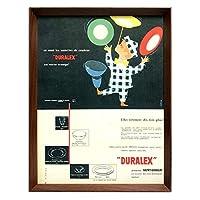 デュラレックス 1960年代 フランス雑誌 ビンテージ広告 ポスター 額付 アートフレーム 01