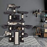Einfach Heavy Duty 68 Inch Multi-Level Cat Tree King/X-Large Size Cat Tower with Scratching Posts Kitty Pet Play House, Suitable for Large Cat/Big Cat, Smoke Grey