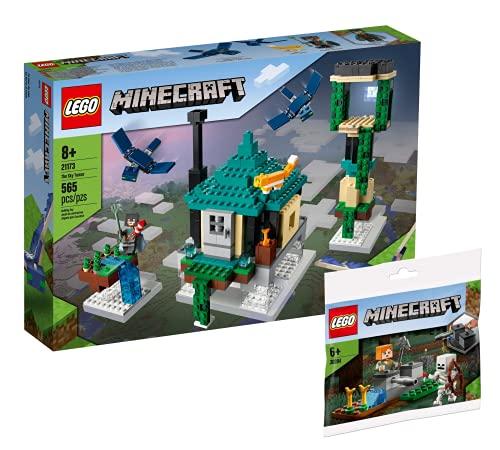 Collectix Lego 30394 Minecraft Der Himmelsturm 21173 + Minecraft Die Skelettaufwehr 30394