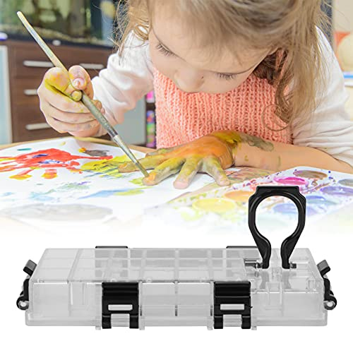 Caja de paleta de acuarela, caja de paleta fuerte, ligera, conveniente para instalar pinturas al óleo para pintura acrílica para pinturas chinas para pinturas de acuarela