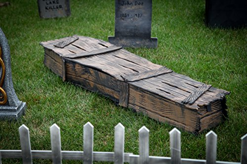 Lookalike Old Wooden Lifesize Coffin Halloween Prop