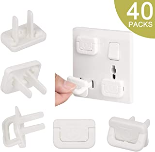 40Pack Childproof Outlet Plugs, Hard for Baby to Remove Child Safety Electrical Outlet Covers, Durable Electrical Plug Protectors Prevent Baby from Accidental Shock Hazards