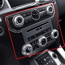 Car Interior Air Conditioning Control Knob Cover Volume Control Knob Cover Chrome Trim for Land Rover Discovery 4 LR4 Range Rover Sport