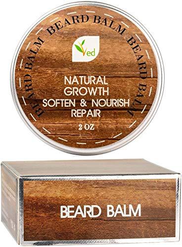 VED Balsamo per barba | Naturale Crescita Nutre Riparazione | Lasciare in condizionatore | Ammorbidire per barba e baffi | Extra Large 56,7 g/60 ml (confezione da 3)