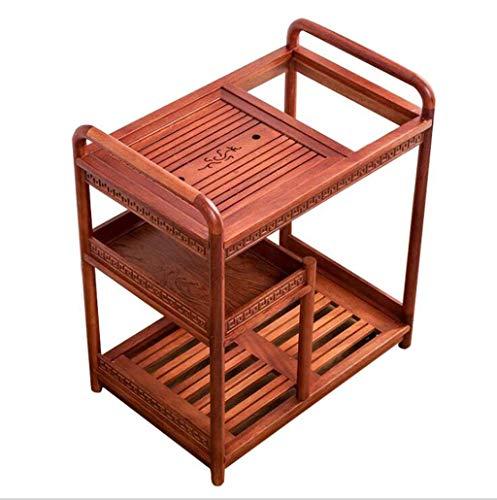 LILICEN LYJ Madera sólida móvil Mesa de Centro de Kung Fu Juego de té de múltiples Funciones de Almacenamiento en Rack Simple Inicio