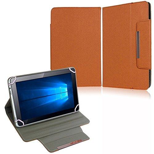 NAUC Tasche Hülle Schutzhülle für Medion Lifetab P8502 Case Cover Schutz Stand, Farben:Braun
