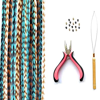 Hair Feathers Extensions Kit