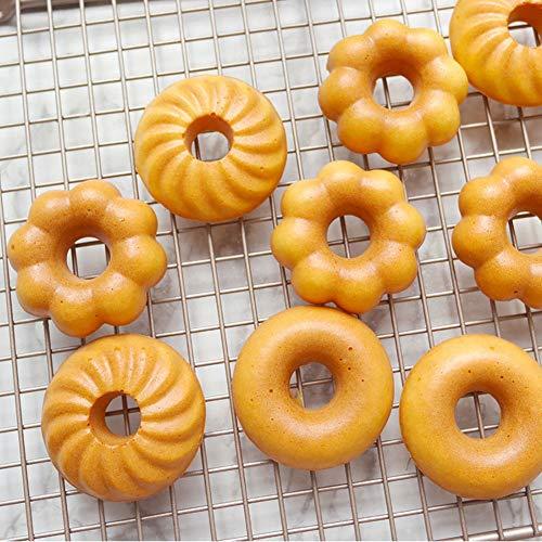 DreamDIYドーナツ型マドレーヌ型ケーキ金型マフィン型焼きドーナツ型6ケ取シリコン加工天板お菓子型(ドーナツ型)