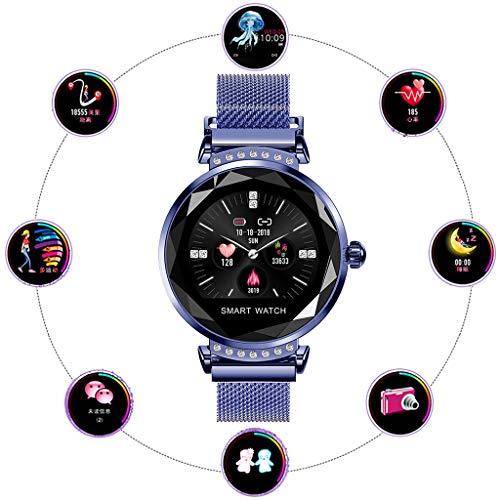 Ejolg wasserdichte Fitness Trackers Smartwatch,Mit Blutdruck Herzfrequenz Kalorien Schrittzähler Und Andere Funktionen.Damen Armband Uhr,Blue