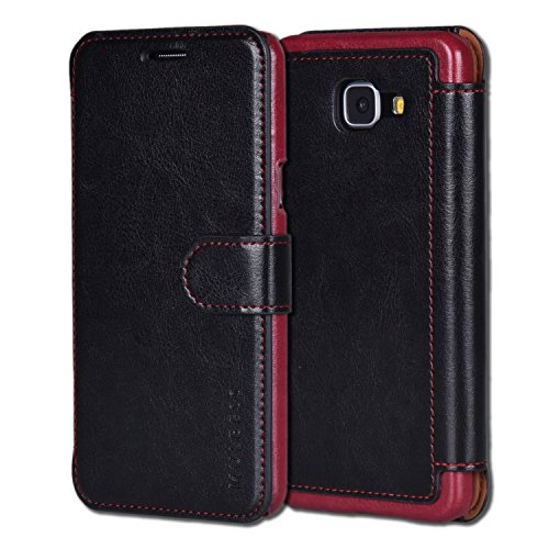 Mulbess Funda Samsung Galaxy A5 2016 [Libro Caso Cubierta] [En Capas de Billetera Cuero] con Tapa Magnética Carcasa para Samsung Galaxy A5 2016 Case, Negro