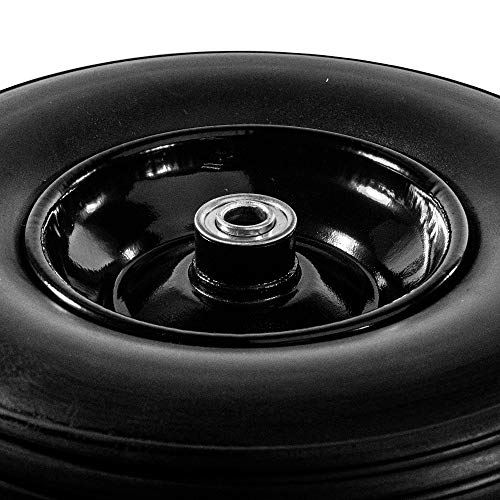 2WBNF13 Anti Flat Ribbed Replacement Wheel for Wheelbarrow 13 Inches No Flat Tire Black Lot of 2
