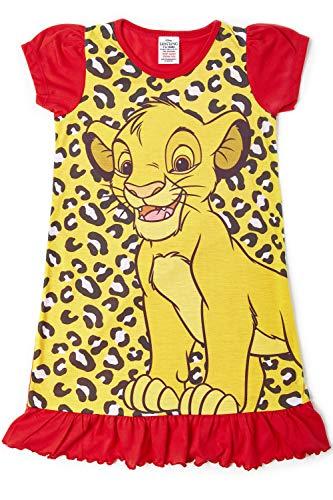 Camisetas de princesa Disney con el Rey León, Aladino, Cenicienta, La Patrulla Canina, La Sirenita. Producto oficial para niños, camisón para princesas Rey León 3-4 Años