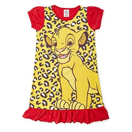 Camicie da notte per bambine a tema personaggi Disney, Re Leone, Aladdin, Cenerentola, Paw Patrol, La Sirenetta | Prodotto Ufficiale per bambini, abbigliamento da notte Aladdin. 4-5 Anni