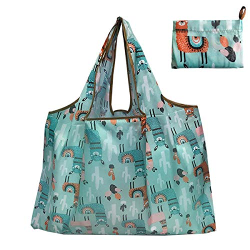 2020 Thick Magic style Nylon Large Tote ECO Reusable Polyester Portable Shoulder Handbag Cartoon Folding Pouch Shopping Bag Foldable,H124