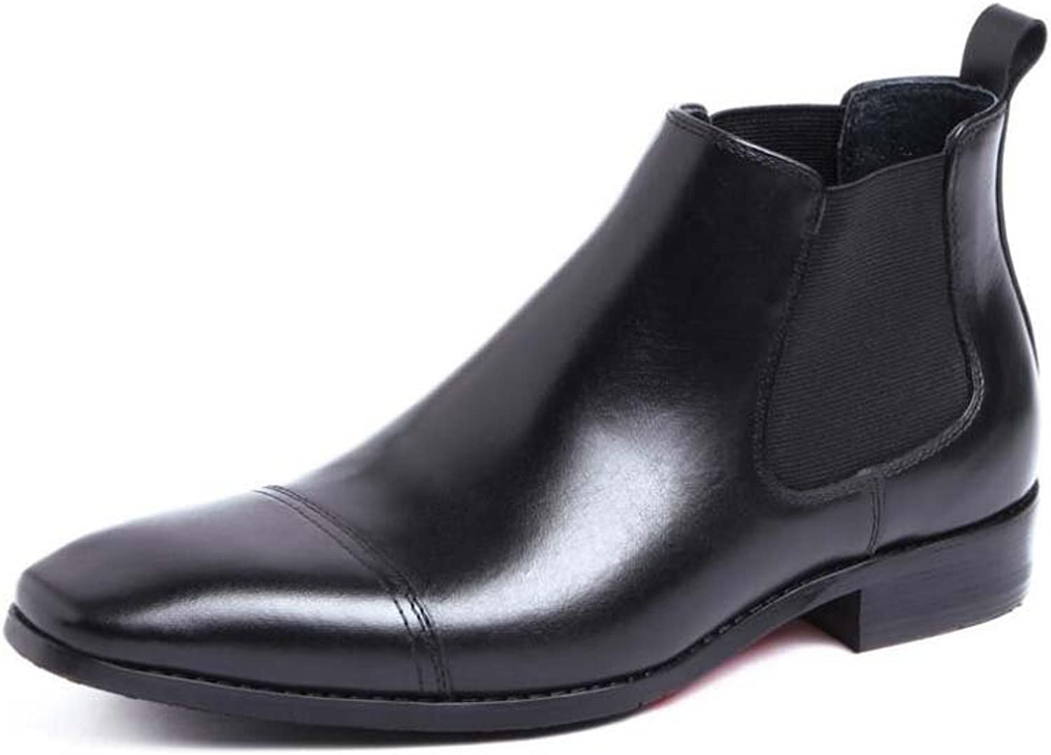 Men's Ankle Boots shoes Cowhide to Create Business Dress shoes Atmosphere Has 37 Yards