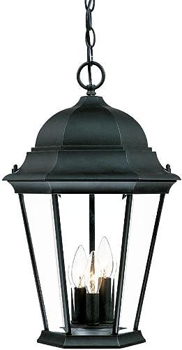 2021 Acclaim 5226BK Richmond Collection 3-Light Outdoor high quality outlet sale Light Fixture Hanging Lantern, Matte Black online sale