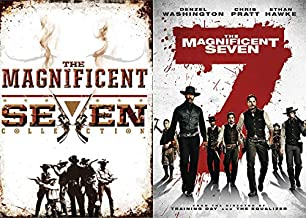 Outlaws, Bounty Hunters And Hired Guns- Western DVD 5 Pack: The Magnificent Seven (2016 Remake) & The Magnificent Seven Collection Return / Ride (4 DVD Set) Feature Film DVD Bundle