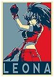 Poster Propaganda - King of Fighters Leona - A3 (42x30 cm)
