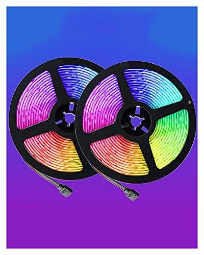 Luces LED De 32.8 Pies para Dormitorio, Cambio De Color De Sincronización De Música 5050 RGB Luces De Cuerda De Tira De LED Control Remoto De 40 Teclas, Luces De Tira LED para Decoración del Hogar